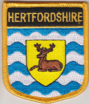 Hertfordshire Embroidered Flag Patch, style 07